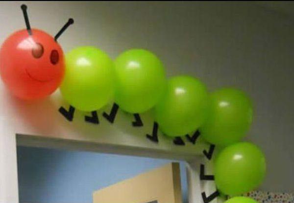 ideas creativas para decorar globos infantiles ciempiés