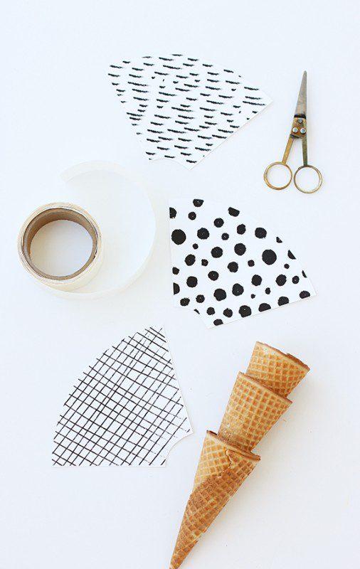 imprimible para decorar los conos de helados