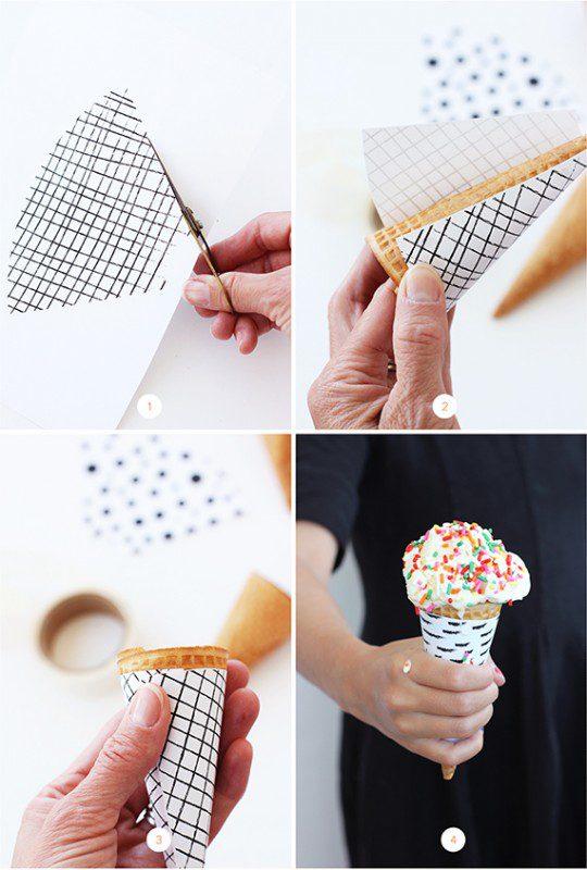 imprimible para decorar los conos de helados y dejarlos bonitos