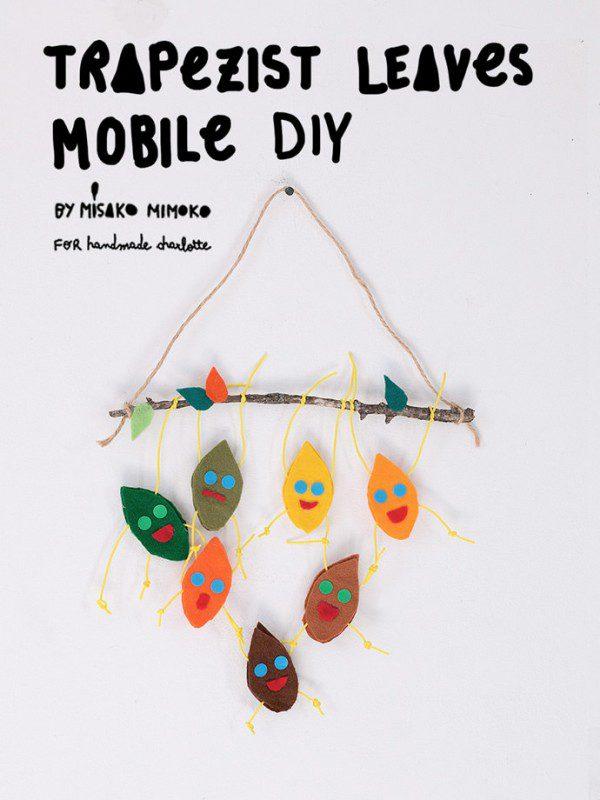 móvil de hojas trapecistas