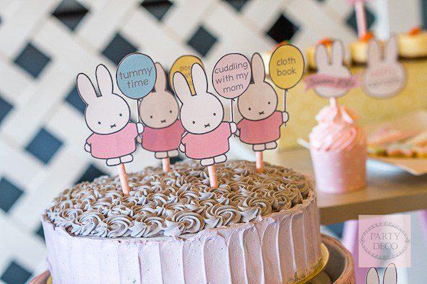 pastel de miffy la conejita