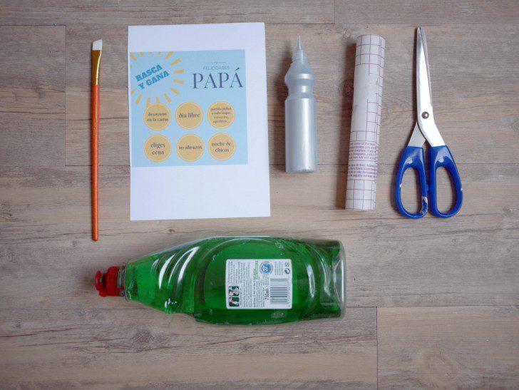 rasca y gana para el día del padre materiales para hacer regalo