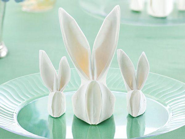 servilleta conejos de pascua