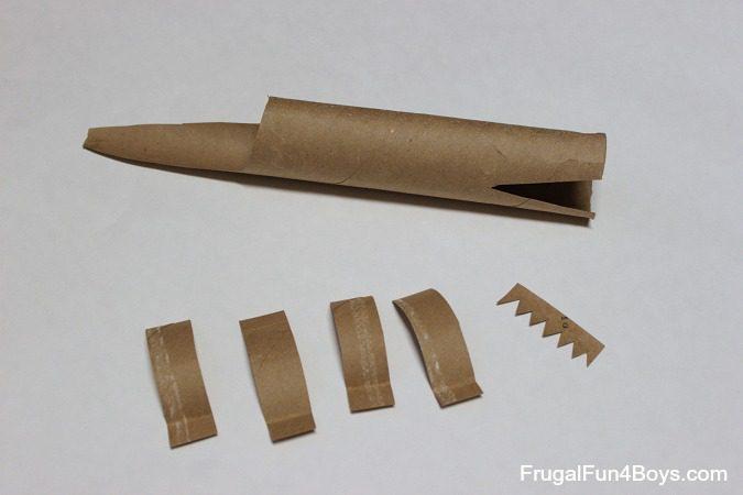 animales con tubos de papel cocodrilo