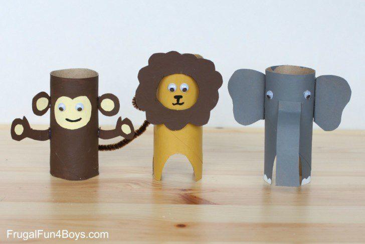 animales con tubos de papel manualidades con papel