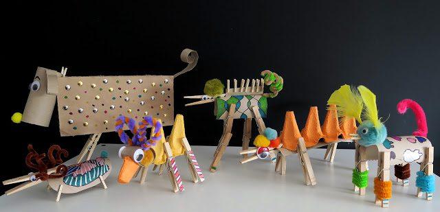 Inventar animales: ¡manualidad muy divertida!