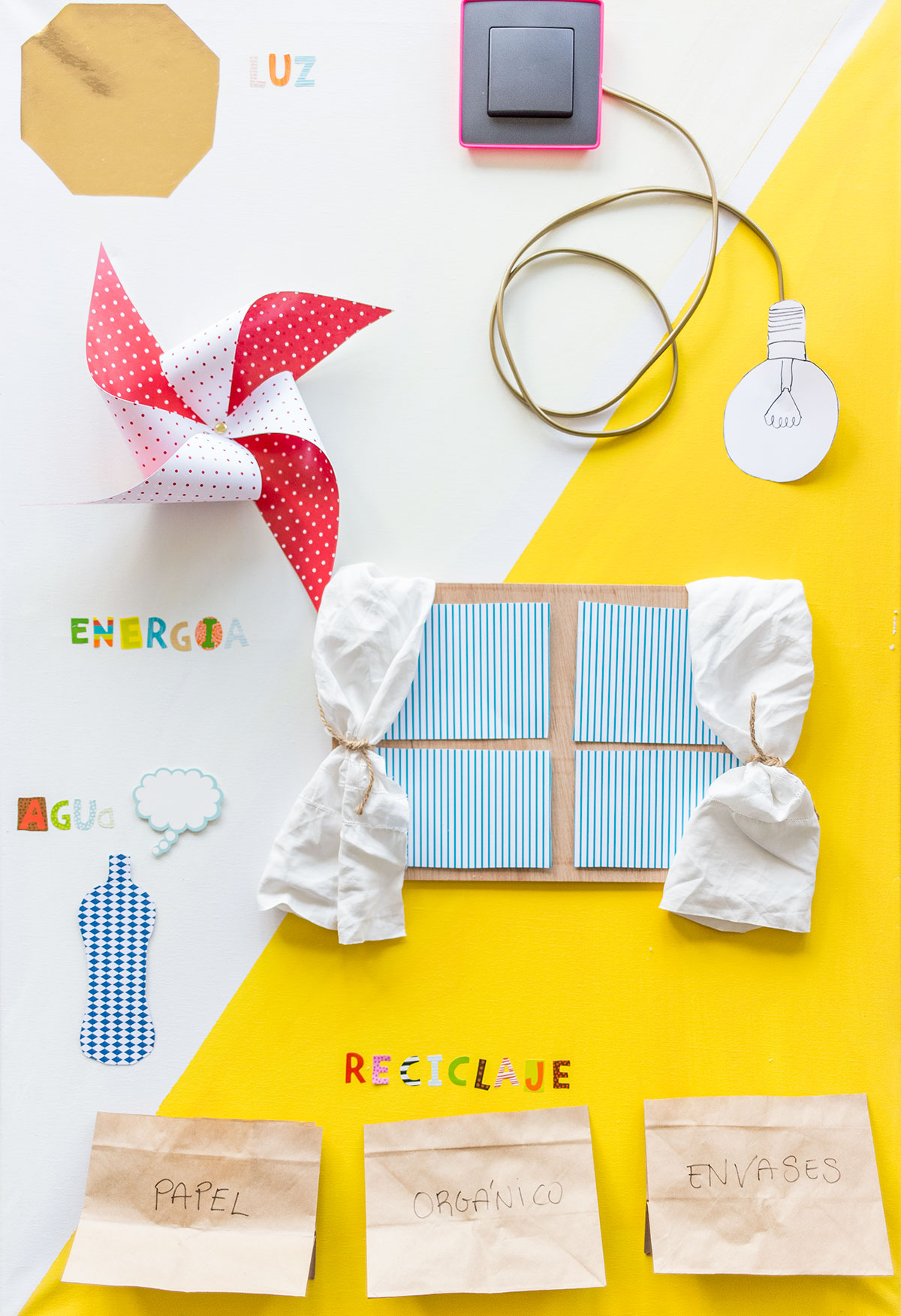 Enseñar a los niños a ahorrar energía: Un panel sostenible