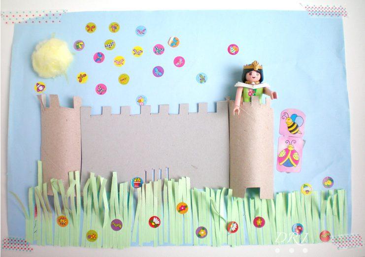 Manualidades con Rollos de Papel: Castillo de Princesas