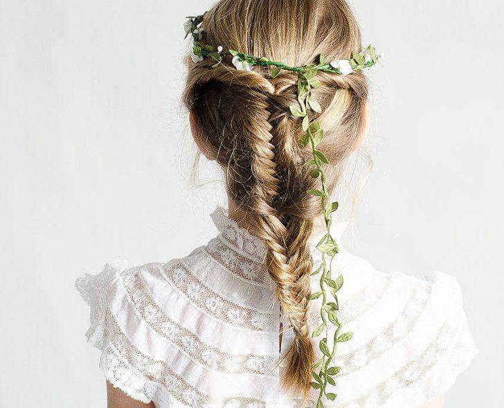 como peinar el cabello en la primera comunión
