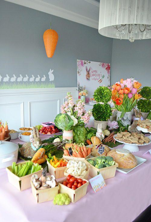 fiesta temática de conejos (para veganos)