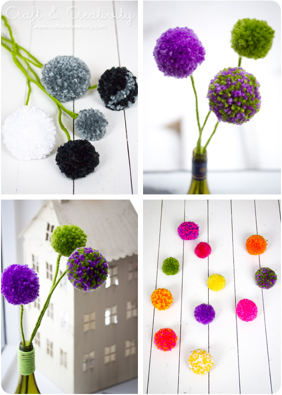 flores de pompon para regalar