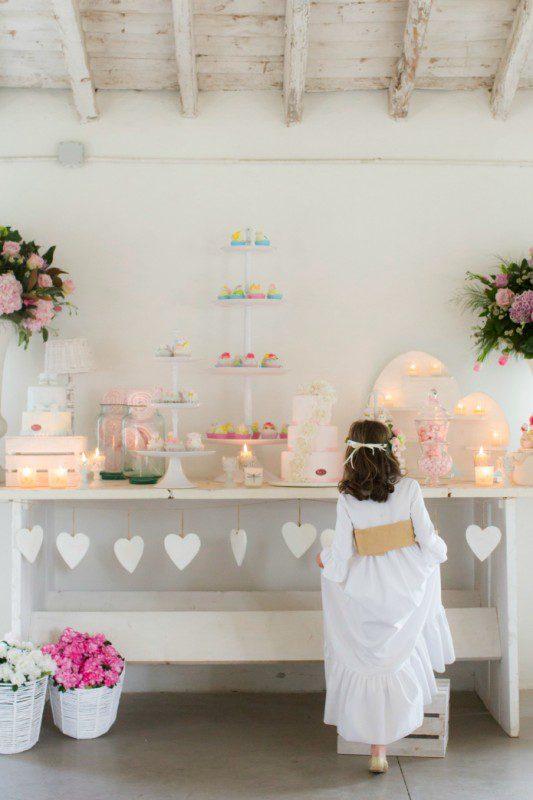 hermosa decoracion para fiesta de primera comunion
