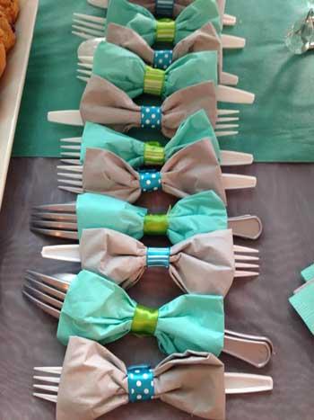 ideas para presentar los cubiertos primera comunion decoracion