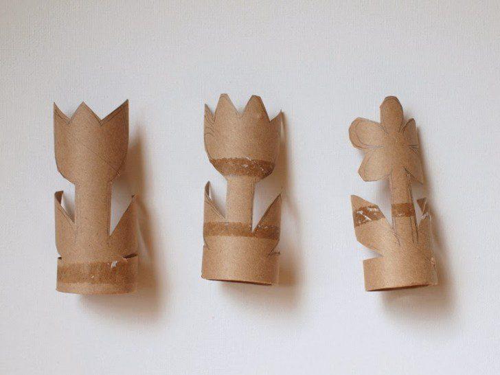 manualidades con tubo de cartón plantas como hacer