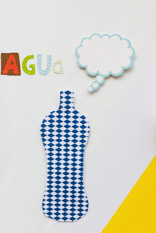 panel sostenible para niños el agua