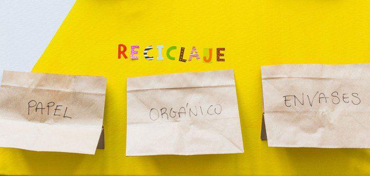 panel sostenible para niños el reciclaje