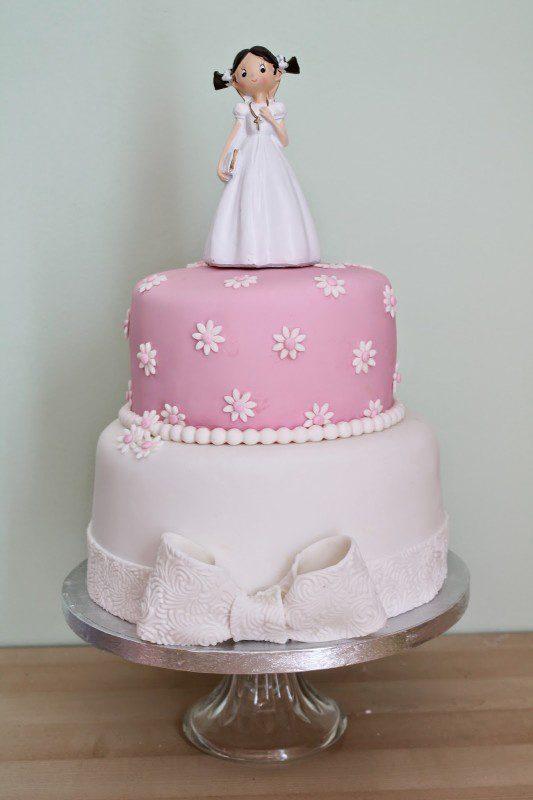 pastel de primera comunión para niñas