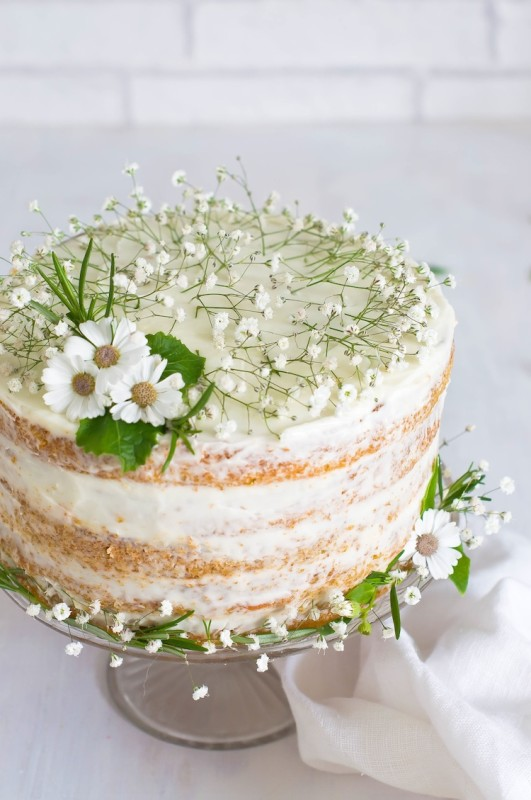 pastel de zanahoria para cumpleaños infantil
