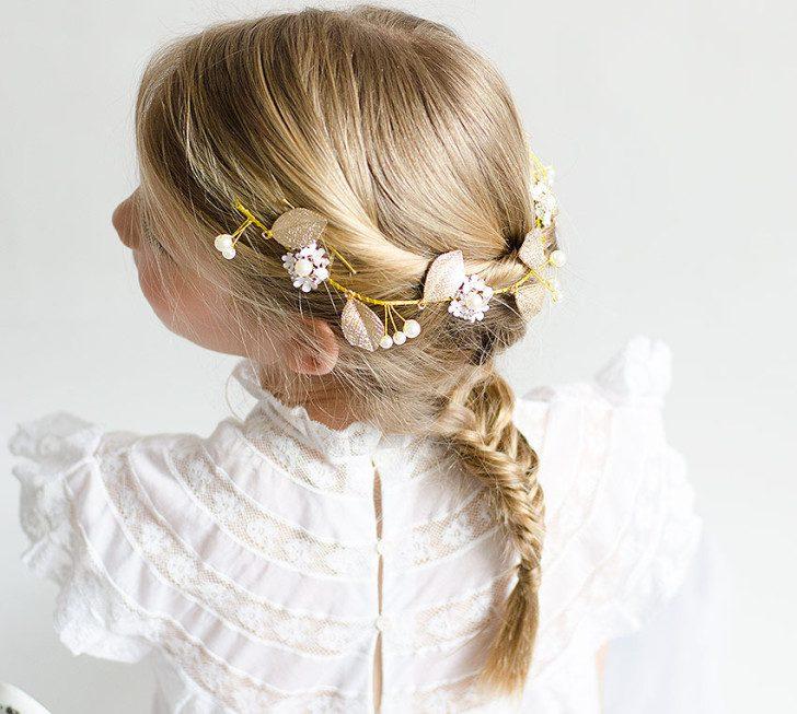 Peinados de primera comuni n para hacer en casa fiestas - Peinados sencillos para comunion ...