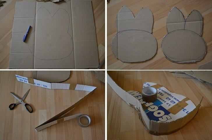piñata de conejo carton