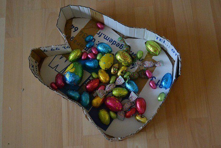 piñata de conejo con carton