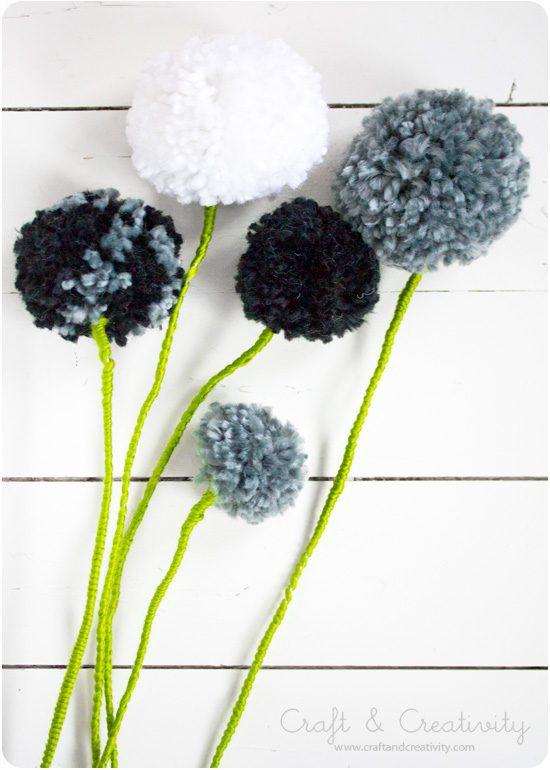 Regalos Caseros Día de la Madre: Flores de Pompones