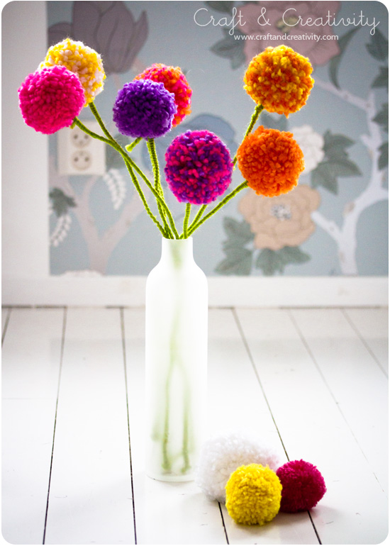 preciosas flores de pompones!