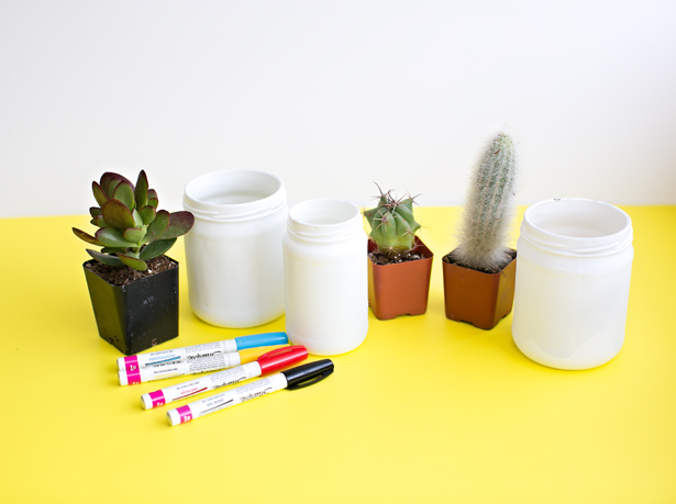 que materiales necesitas para macetas decoradas peques