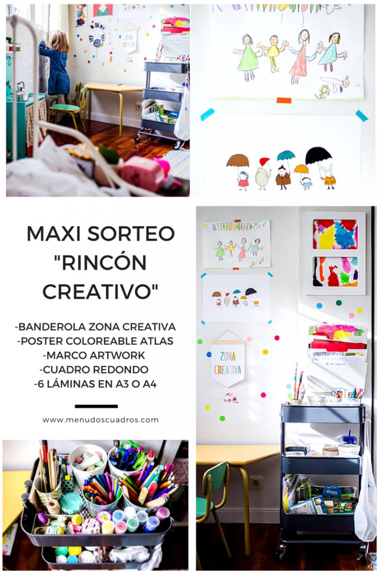 """Maxi Sorteo """"Rincón Creativo"""" en Menudos Cuadros"""