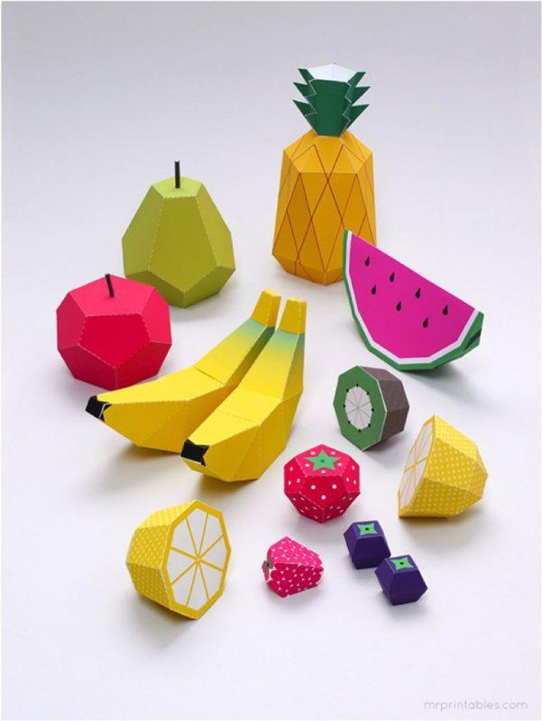 10 manualidades de frutas infantiles para jugar