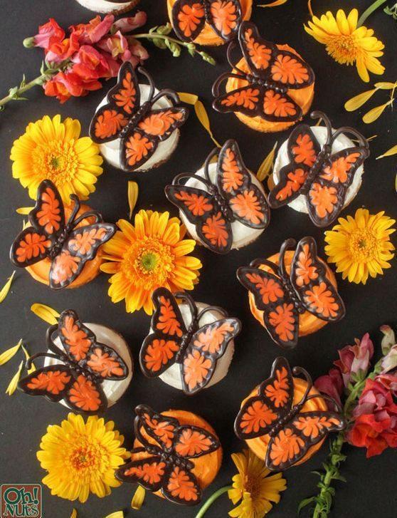 Ideas originales para decorar Cupcakes. Cupcakes Mariposa.