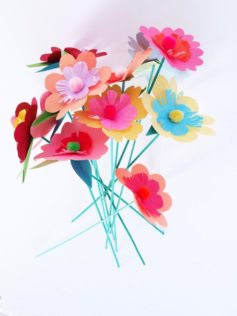 Flores de Colores Caseras para la Primavera