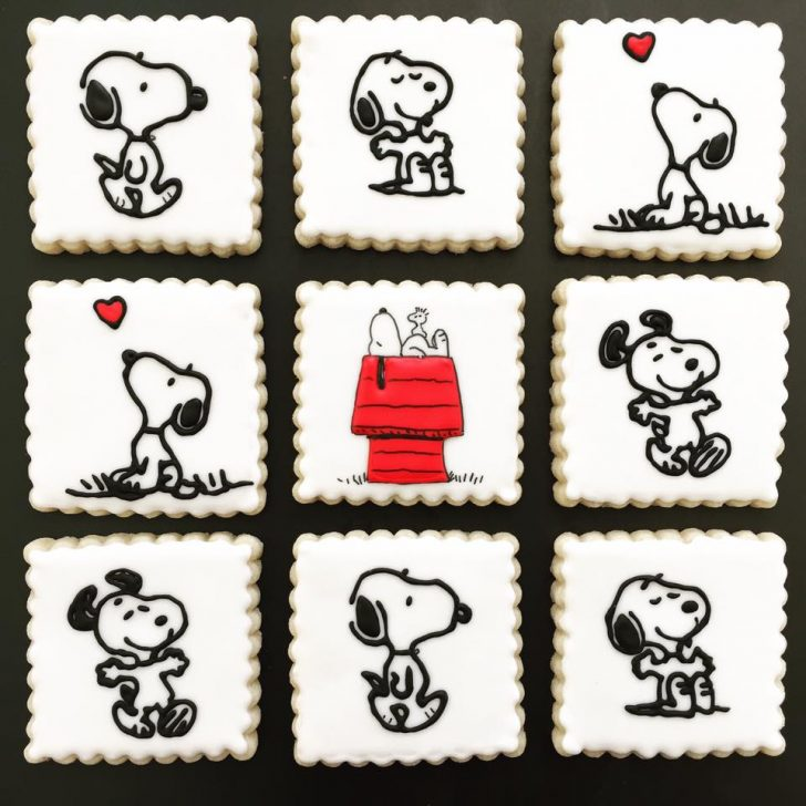 Ideas Decoracion Galletas Glaseado Snoopy 4