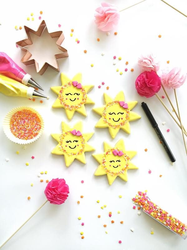 Little Miss Sunshine Idea Decoración Glaseado Galletas