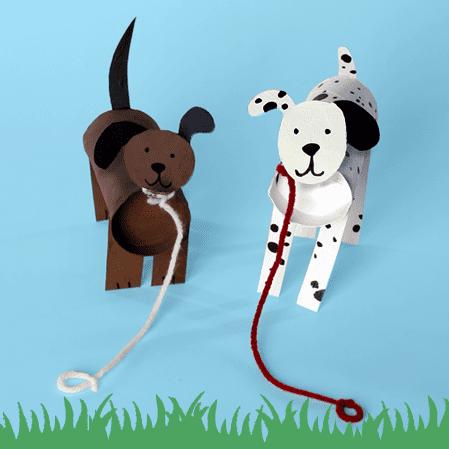 Manualidades con Tubos de WC: Perros
