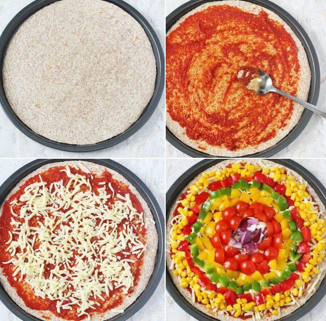 Preparación Pizza Arco Iris (2)
