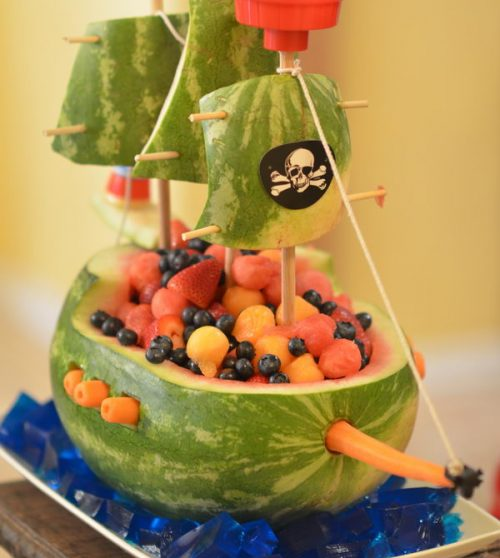 barco pirata sandía