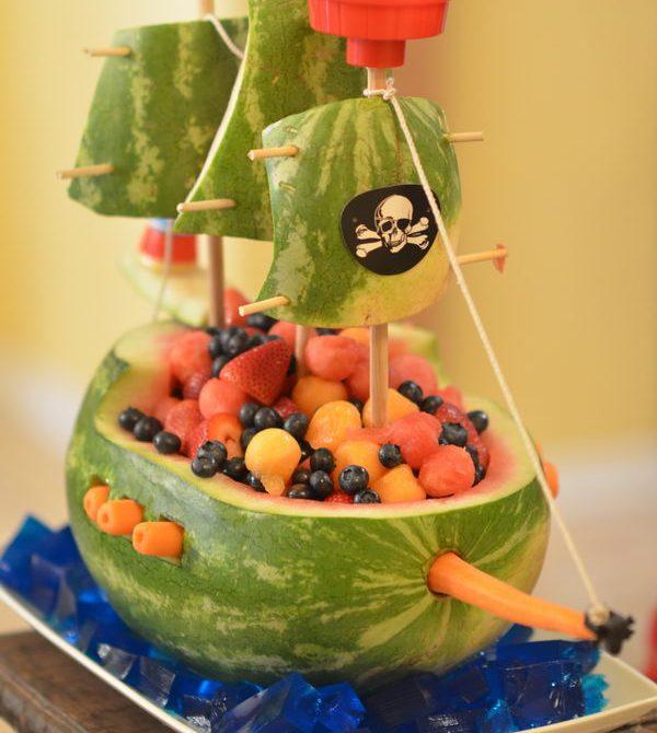 Recetas para cumpleaños pirata. El barco sandía.