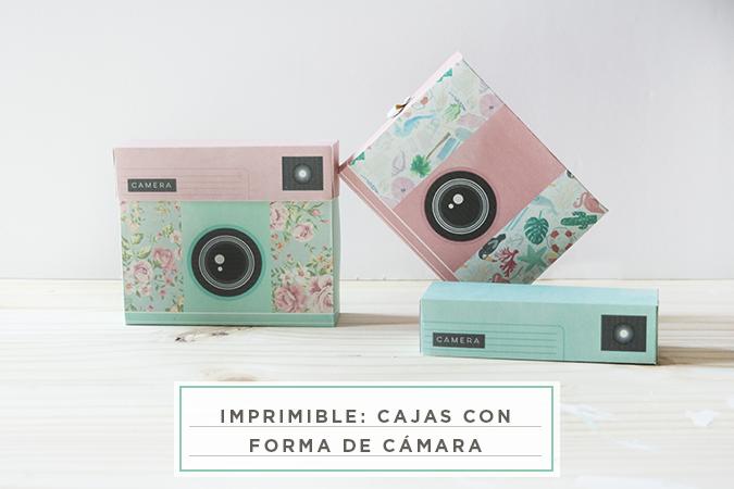 Cajas con Forma de Cámara de Fotos: Imprimibles