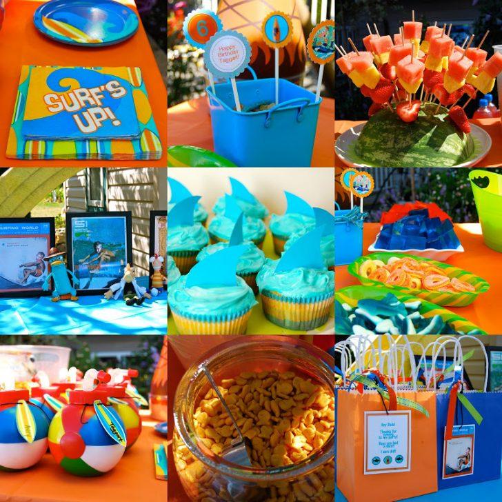cumpleaños infantil de Phineas y Ferb mesa dulce