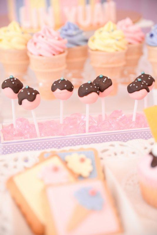 fiesta de helado dulces para comer