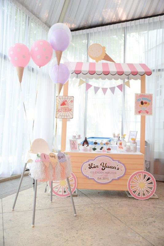 fiesta de helado infantil
