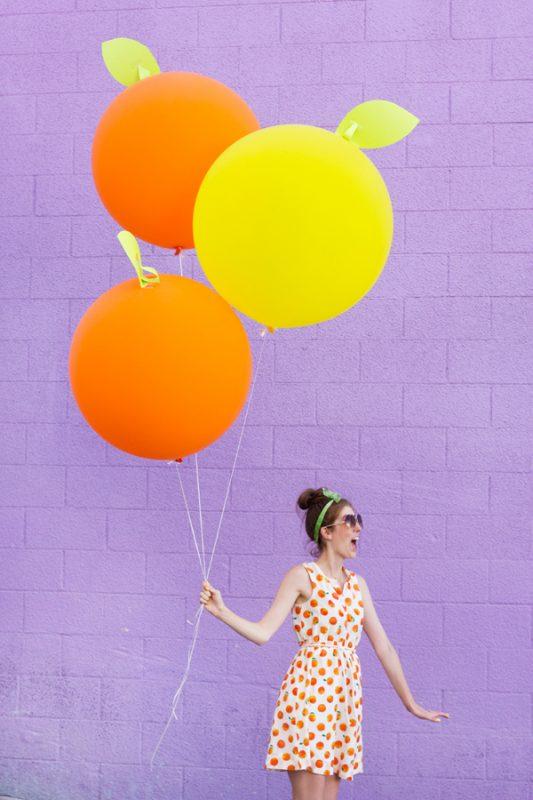 fiesta de la fruta globos gigantes