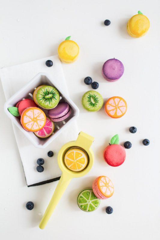 fiesta de la fruta macarrones macaroons