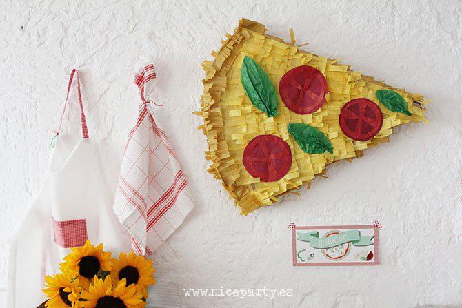 fiesta temática de la pizza infantil