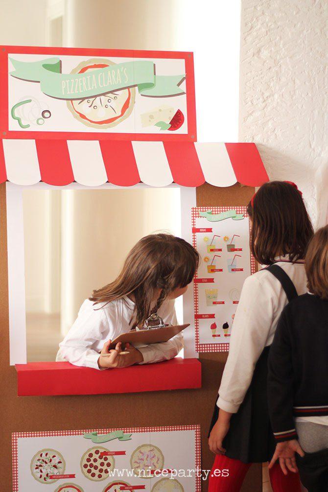 fiesta temática de la pizza juegos niños