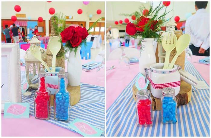 fiesta temática de pequeño chef centros de mesa