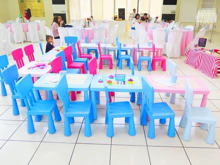 fiesta temática de pequeño chef mesa para niños
