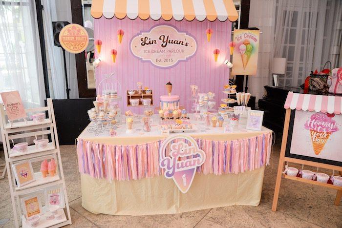 fiesta tematica de helado para niños