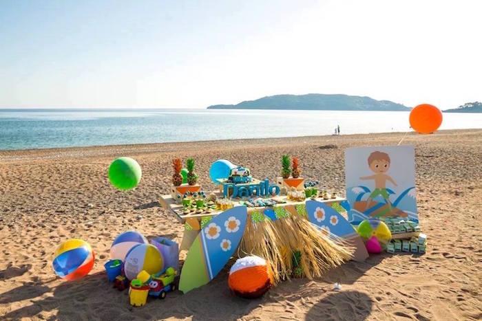 fiesta tropical en la playa mesa dulce